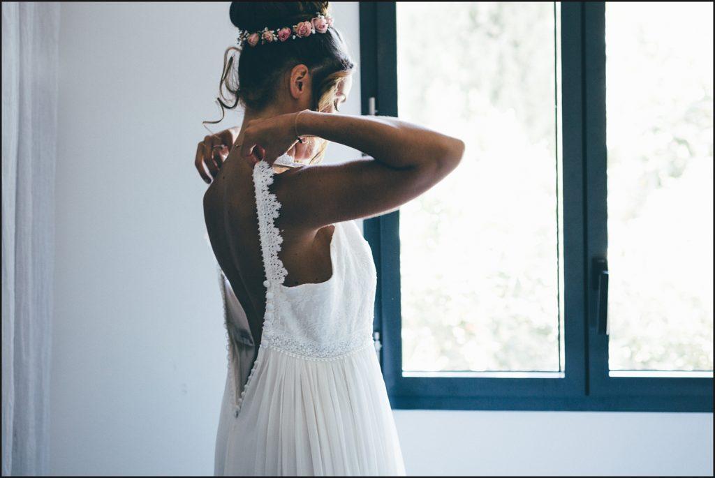 Mariage au Rayol Canadel robe de la mariée christina sfez