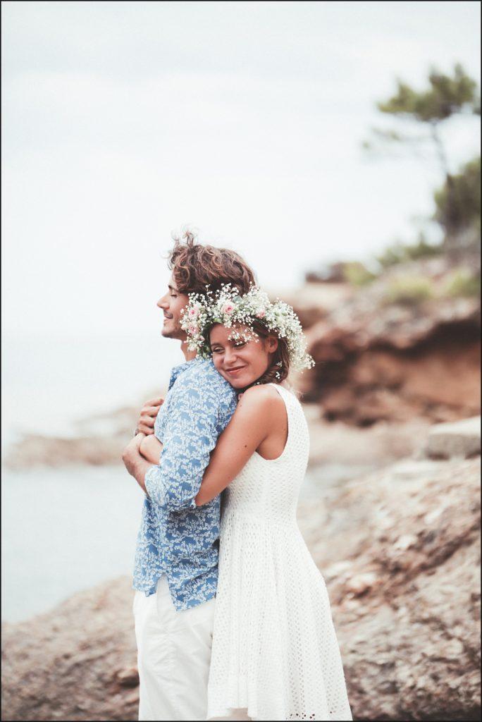 Mariage au Rayol Canadel photo plage pramousquier