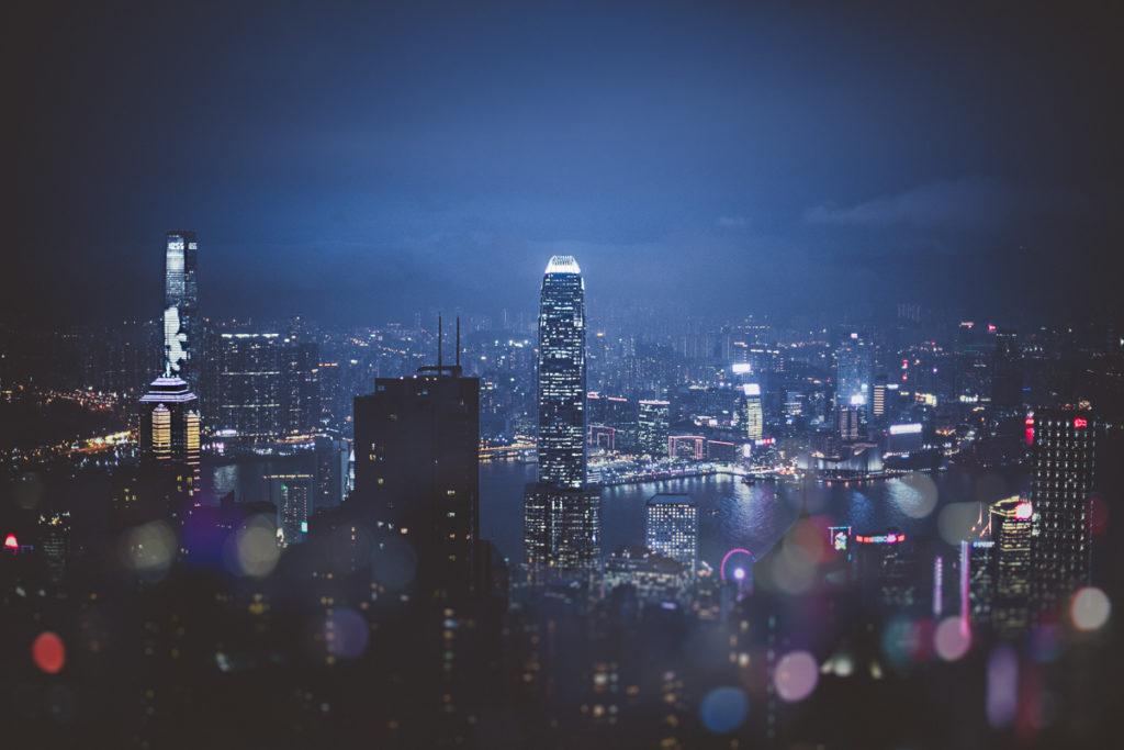 5 jours à Hong Kong skyline by night