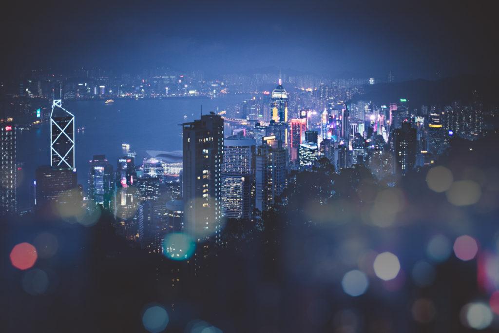 5 jours à Hong Kong vue sur la ville de nuit