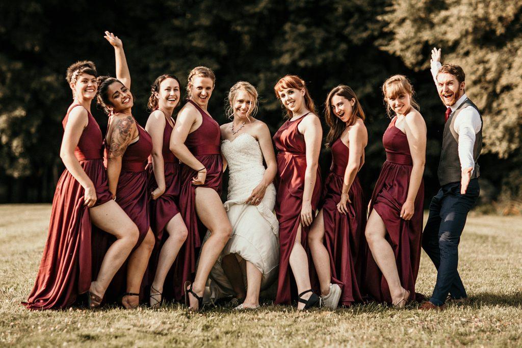 Mariage à Champlâtreux photo sexy des demoiselles d'honneur