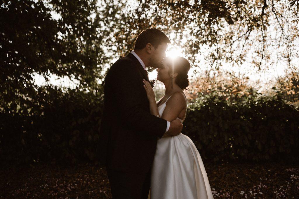 Mariage au Château de Chéronne photo de couple coucher soleil