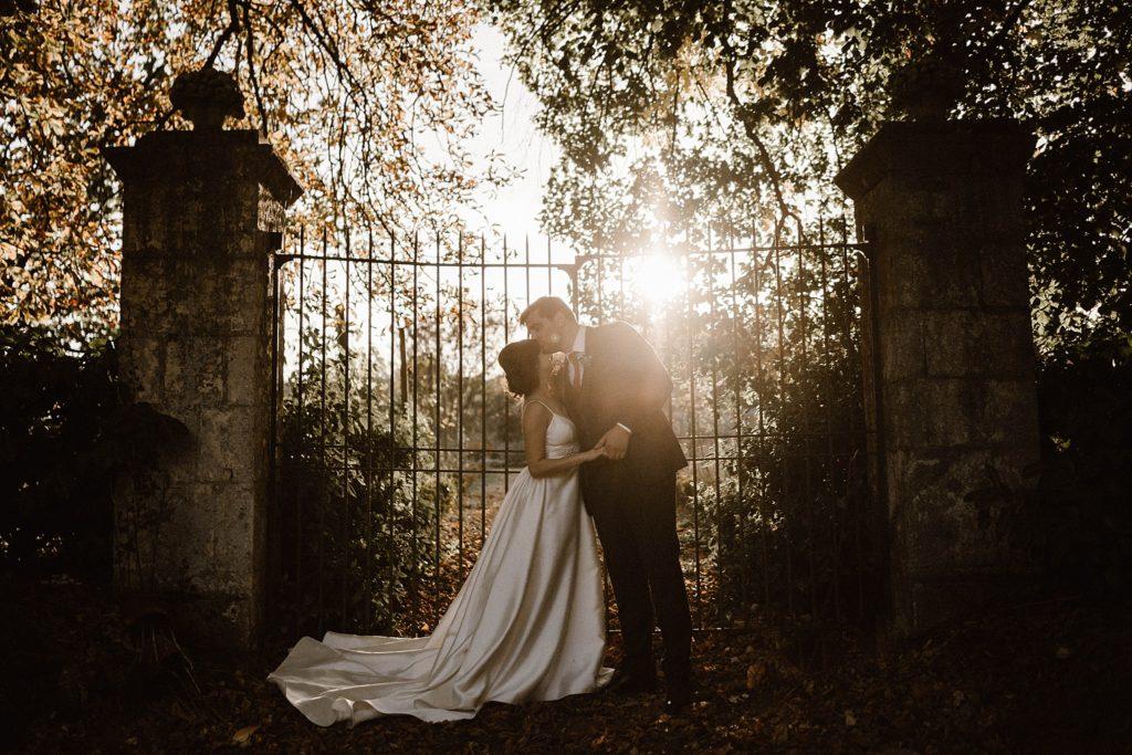 Mariage au Château de Chéronne photo au coucher de soleil
