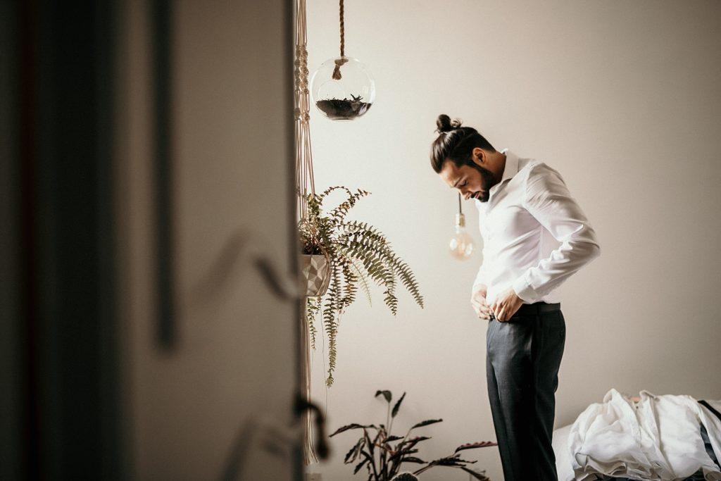 Mariage Ferme Armenon préparatifs du marié