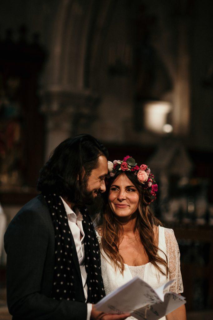 Mariage Ferme Armenon emotions pendant la cérémonie de mariage