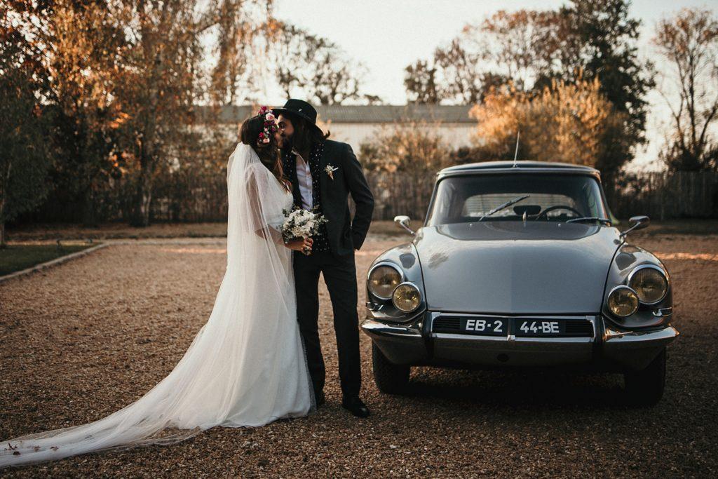 Mariage Ferme Armenon mariage avec citroen ds