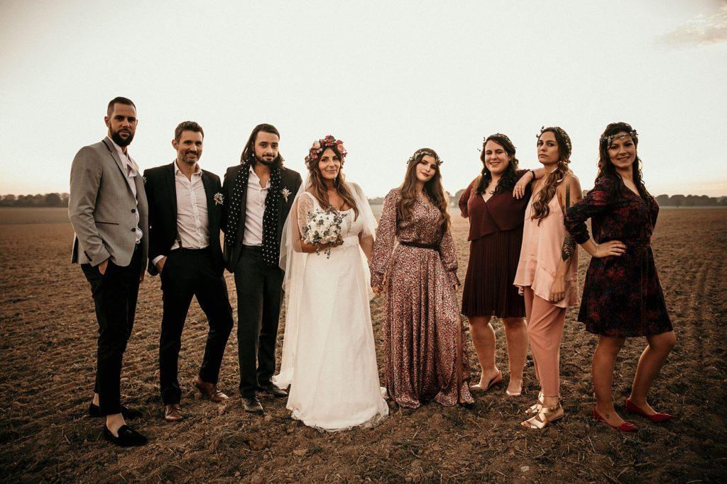 Mariage Ferme Armenon photo cool avec les témoins