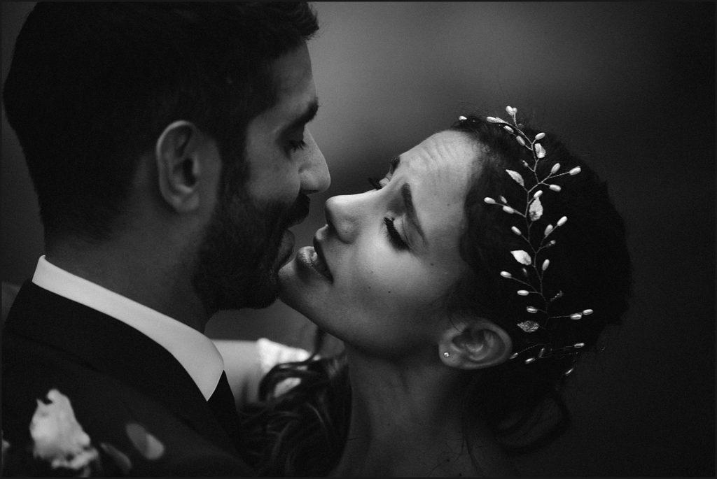 Mariage à Verderonne photo romantique en noir et blanc