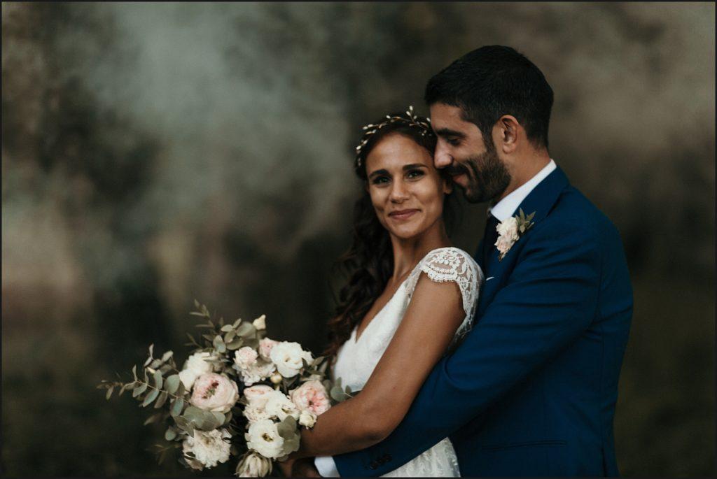 Mariage à Verderonne photo des mariés ambiance brumeuse