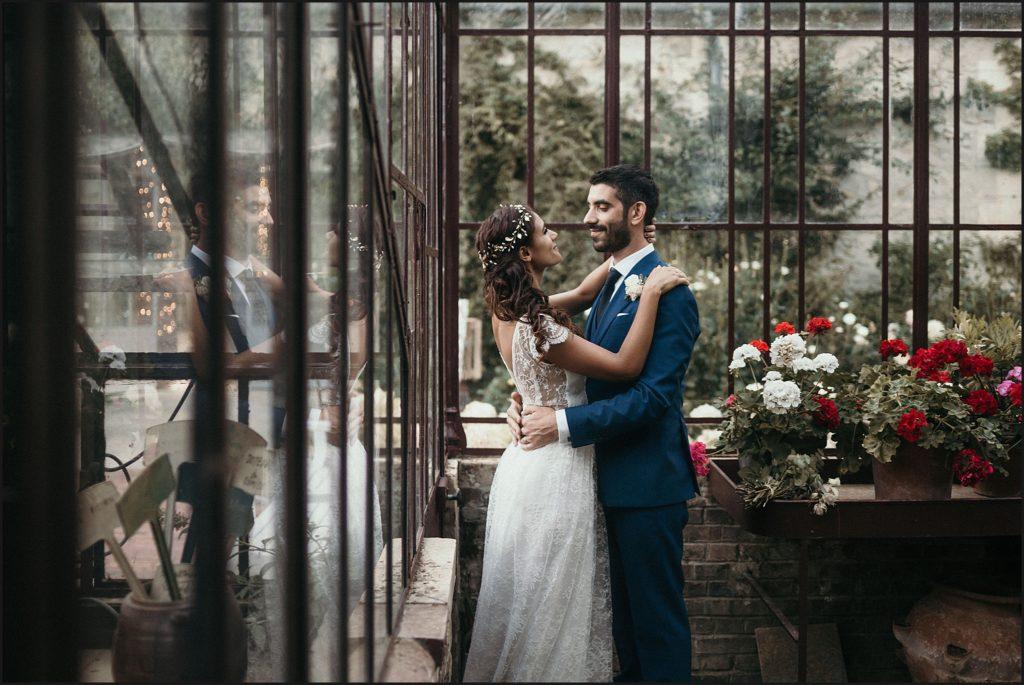 Mariage à Verderonne photo couple dans serre