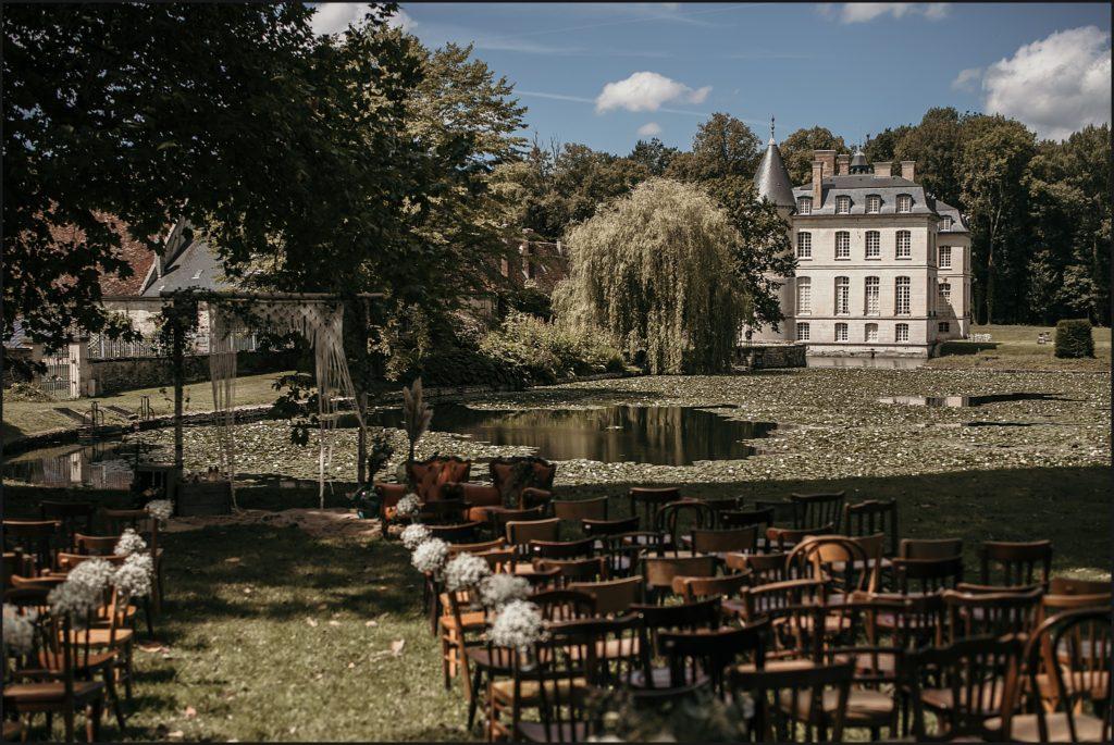 Mariage à Verderonne cérémonie laique devant chateau