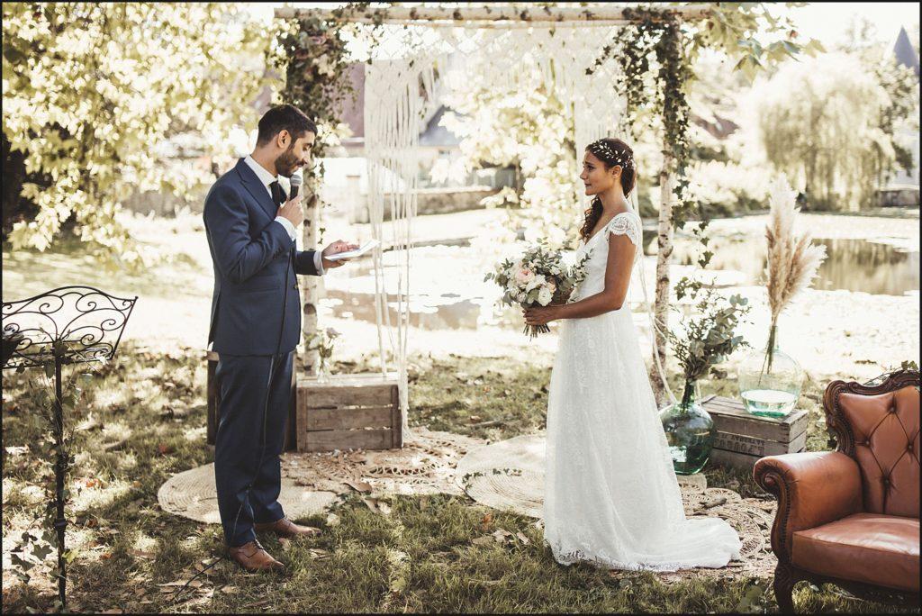 Mariage à Verderonne discours marié pendant cérémonie