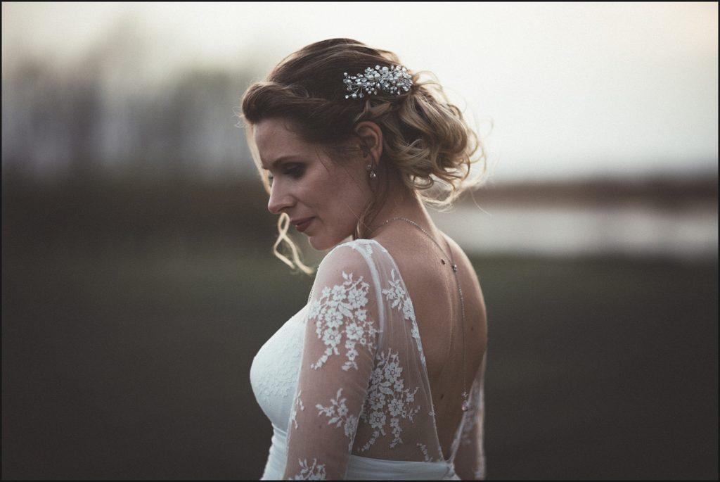 Mariage à la Ferme du Grand Hôtel du Bois robe marie laporte