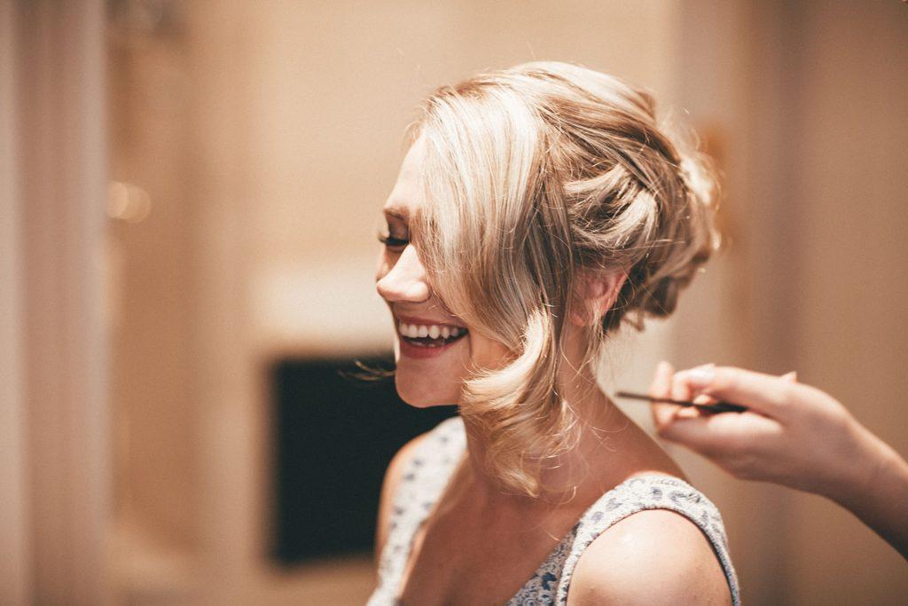 Mariage à Champlâtreux coiffure de la mariée