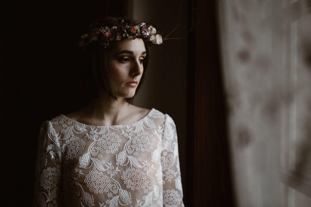 Mariage Moody photo de la mariée pendant préparatifs