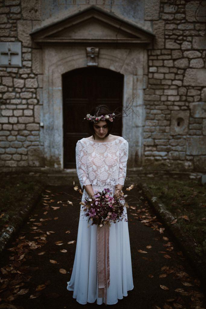 Mariage Moody photo de mariée en hiver