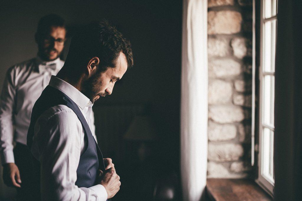 Photographe Mariage Bretagne photo préparatifs du marié