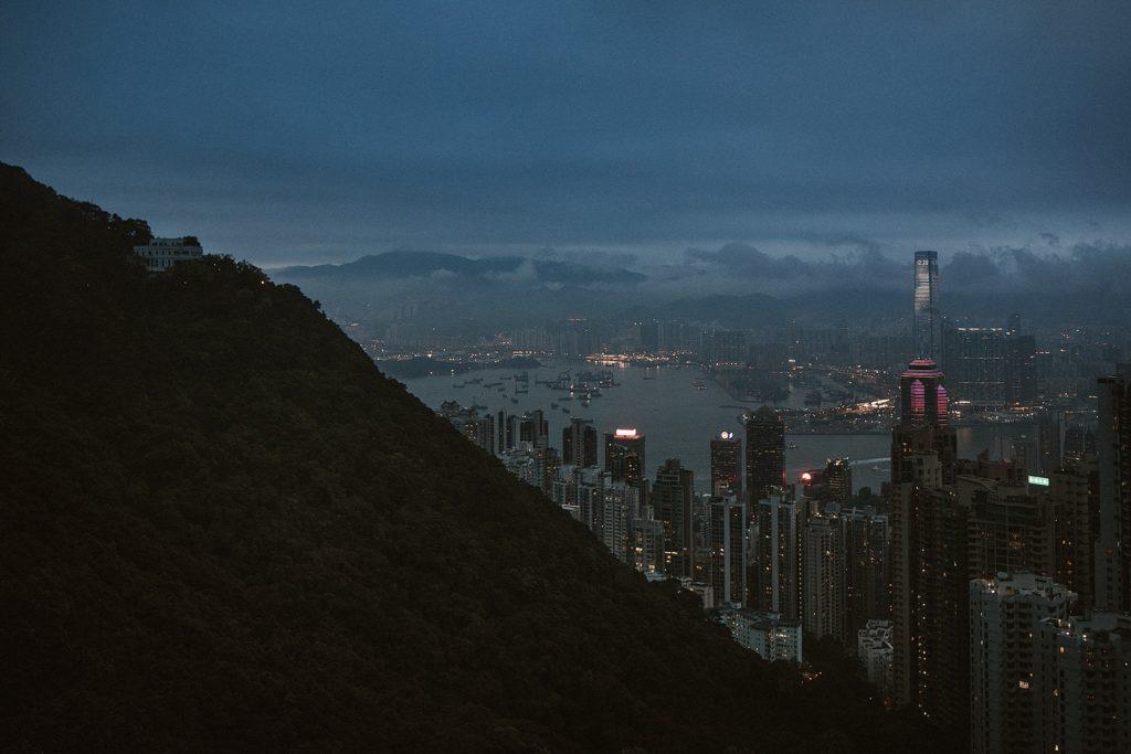 5 jours à Hong Kong skyline blue hour
