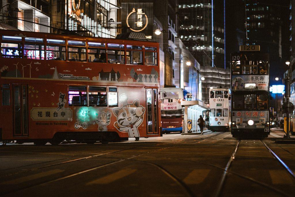 5 jours à Hong Kong tramway de nuit