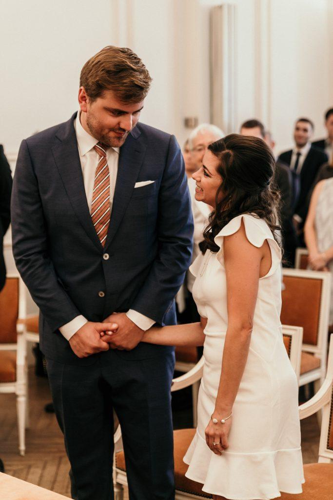 Mariage Rooftop Paris mariés mairie de garches