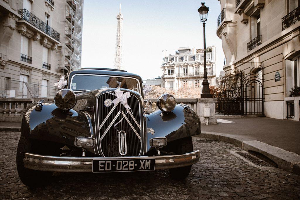 Photographe Mariage Paris voiture ancienne mariage paris