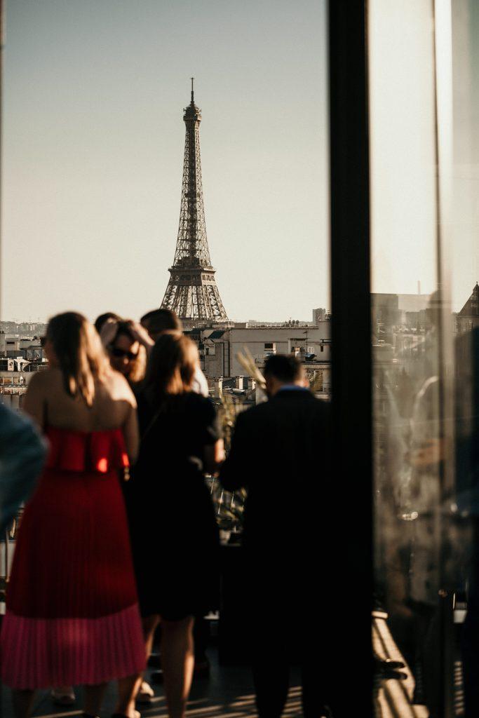 Photographe Mariage Paris tour eiffel the establishment paris rooftop