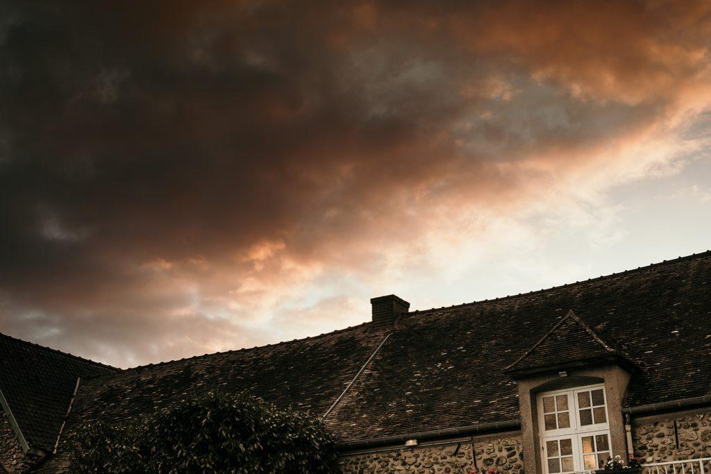 Photographe Mariage Yvelines beau ciel ferme du poult