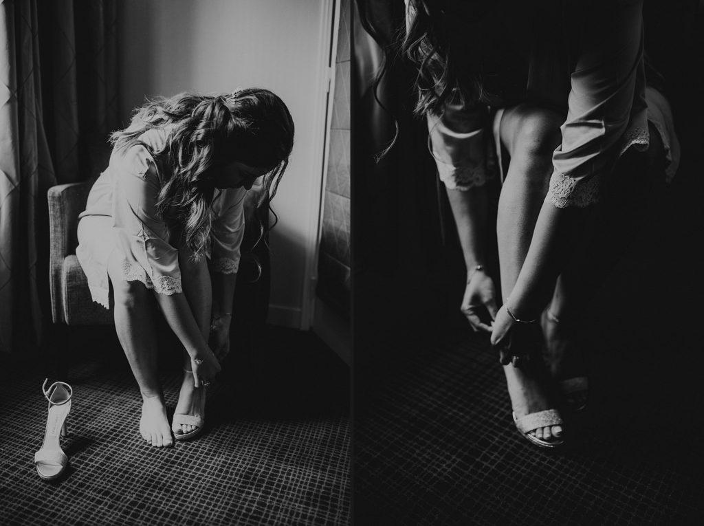 Photographe Mariage Yvelines chaussures mariage noir et blanc