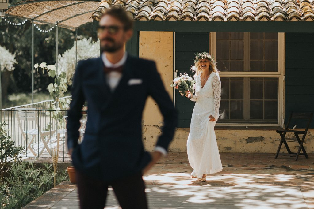 Un mariage à la plage first look mariage var