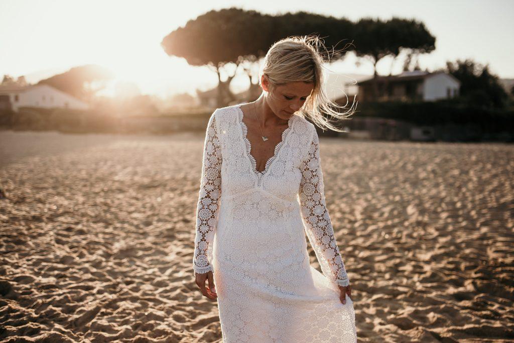 Un mariage à la plage robe de mariée photographe var