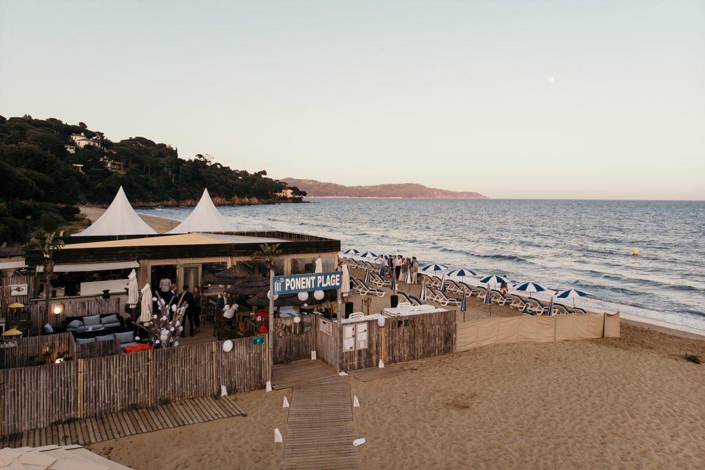 Un mariage à la plage ponent plage drone