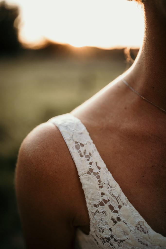 Tamron SP 35mm f/1.4 photo détail robe mariée