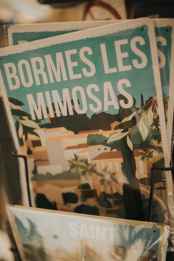 mariage bormes mimosas cartes postales bormes