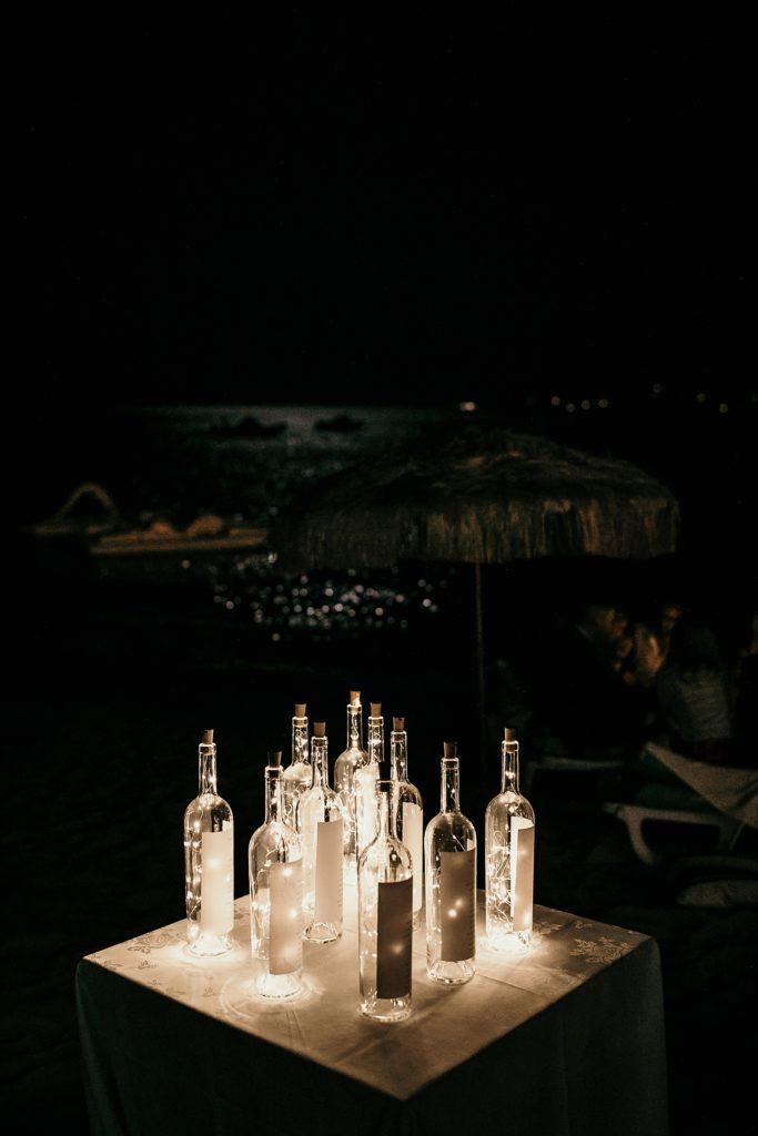 Photographe Mariage Lavandou décoration lumineuse de table mariage