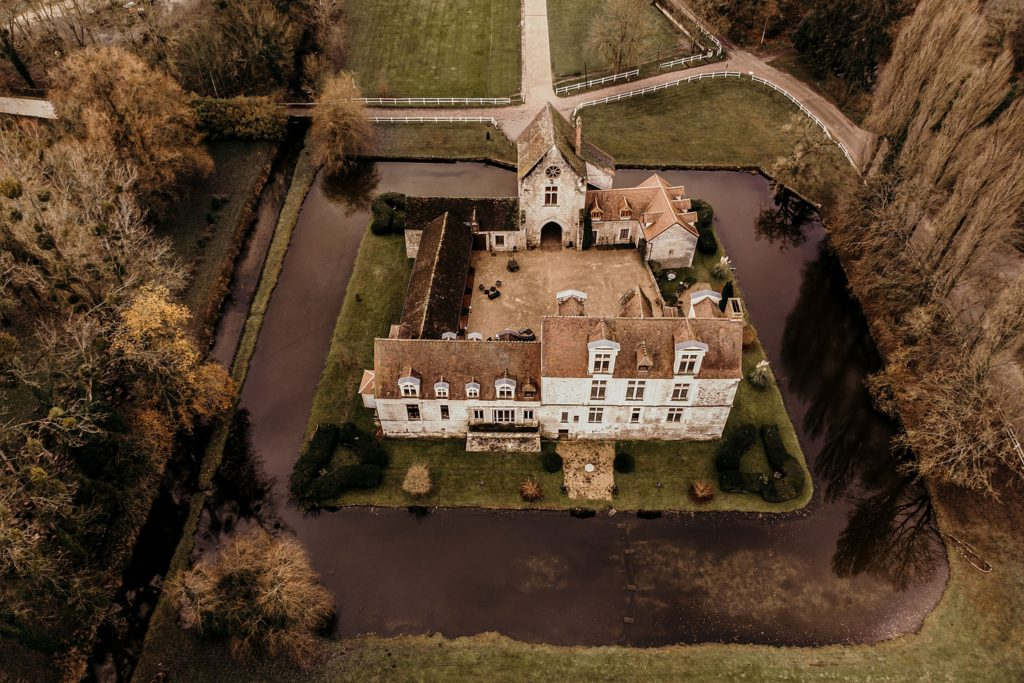 Lieux de mariage autour de Paris photographe mariage drone
