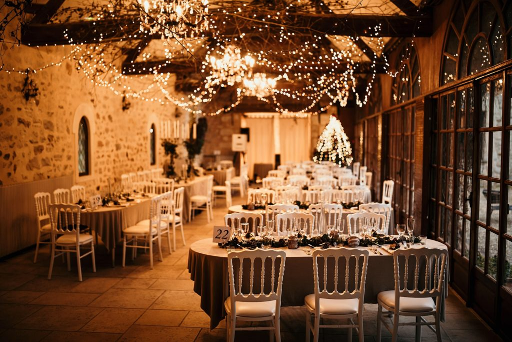 Lieux de mariage autour de Paris décoration lumineuse mariage