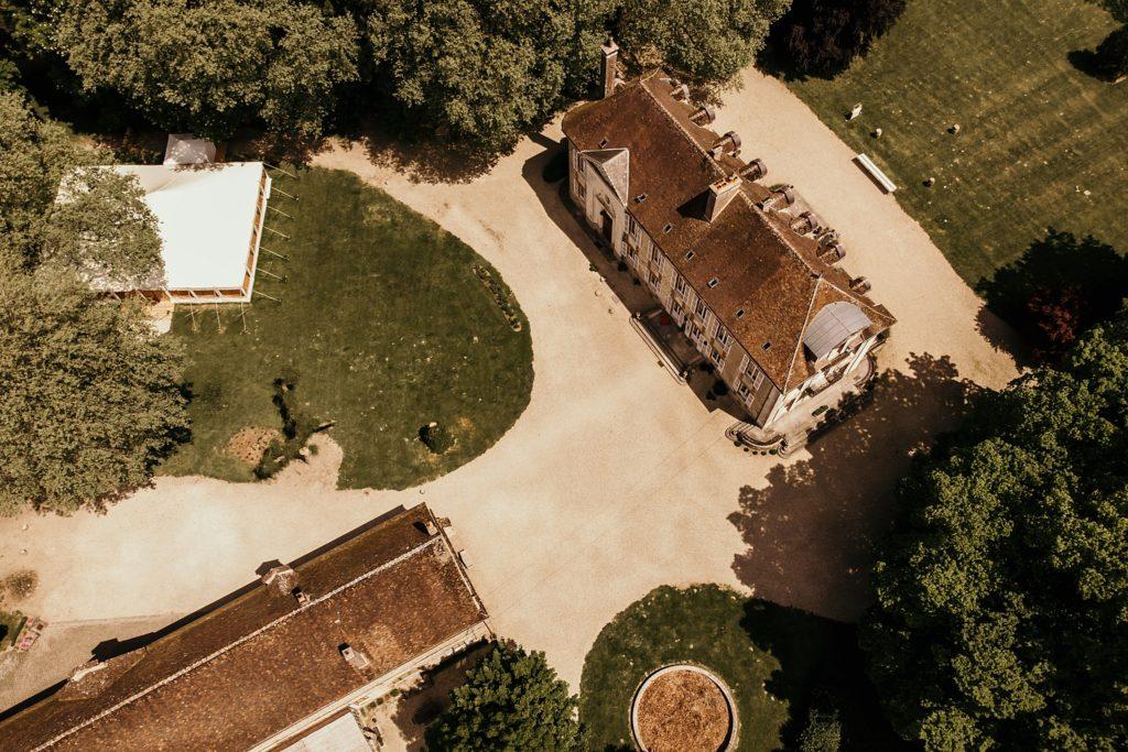 Lieux de mariage autour de Paris vauluisant drone