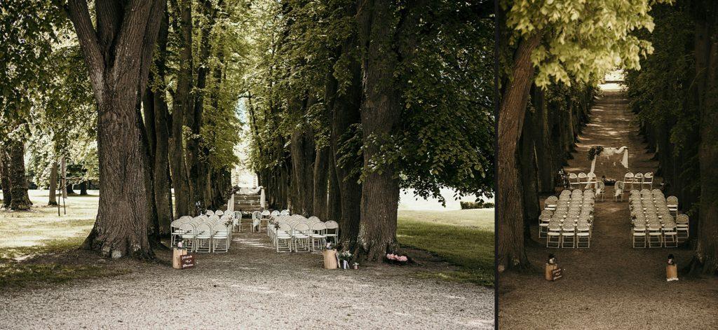 Lieux de mariage autour de Paris cérémonie laïque sous arbres