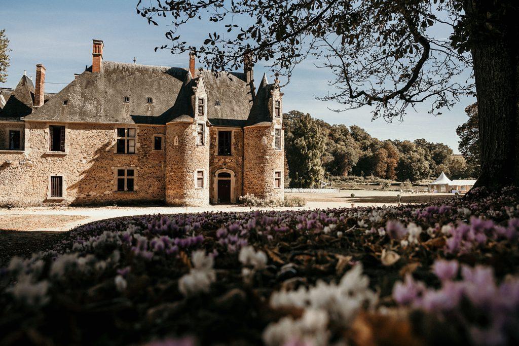 Lieux de mariage autour de Paris château chevronné fleurs