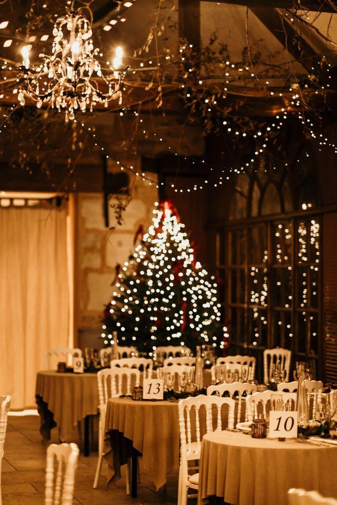 Se marier en hiver décoration Noel