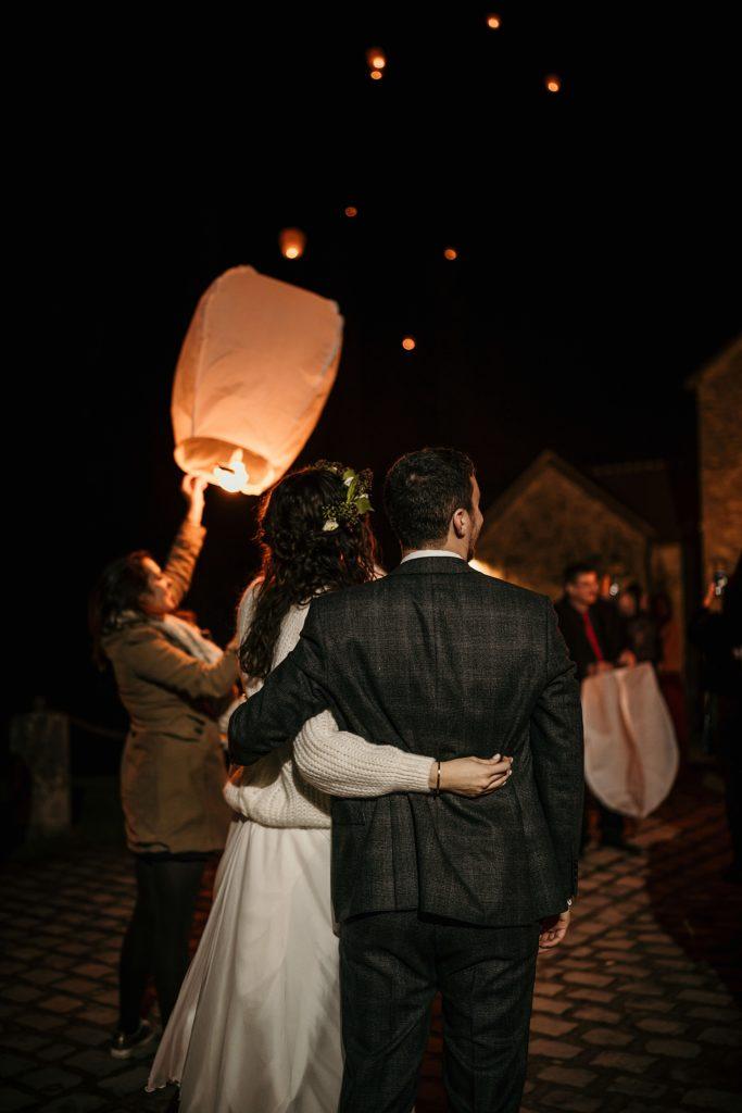 Se marier en hiver lanternes