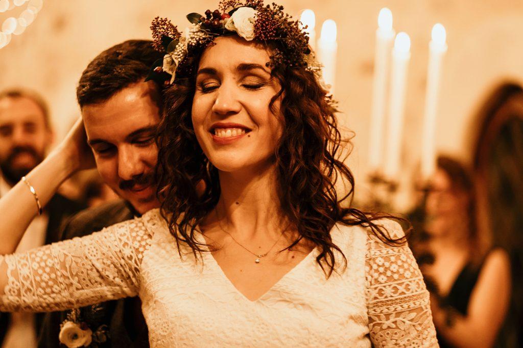 Se marier en hiver mariés amoureux salle réception