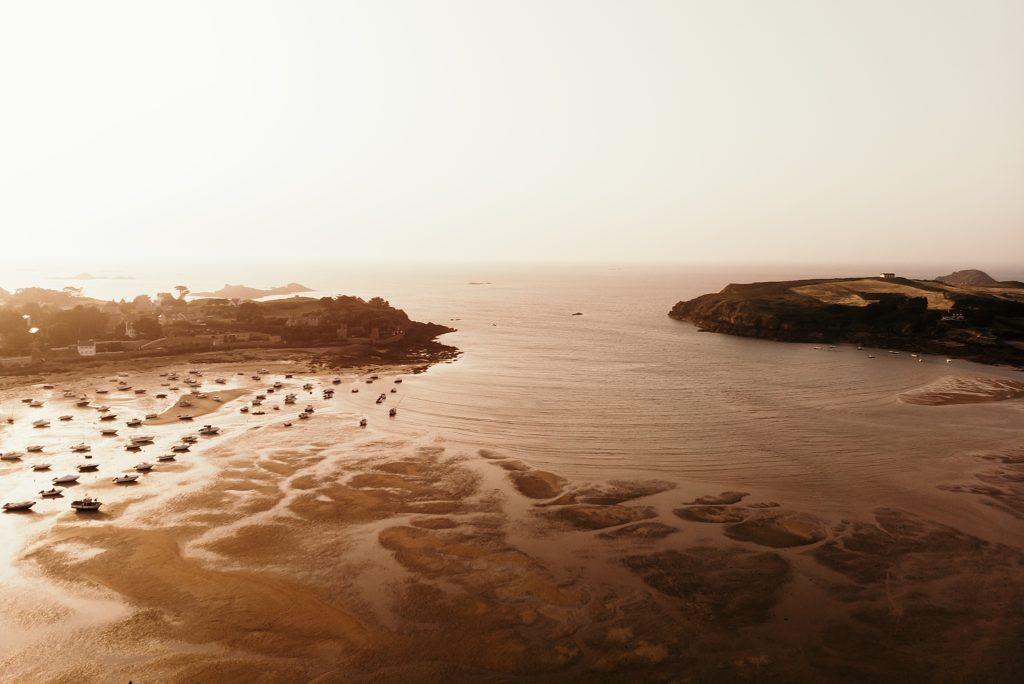 Photographe Mariage Saint Malo havre de rothéneuf drone