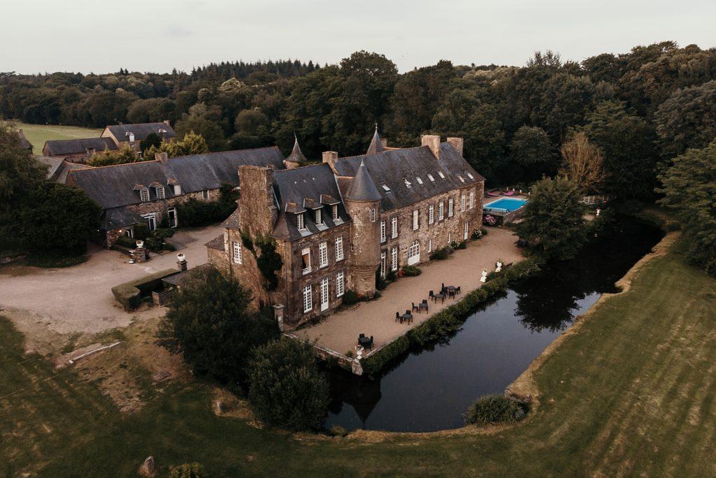 Photographe Mariage Saint Malo chateau de la motte beaumanoir drone