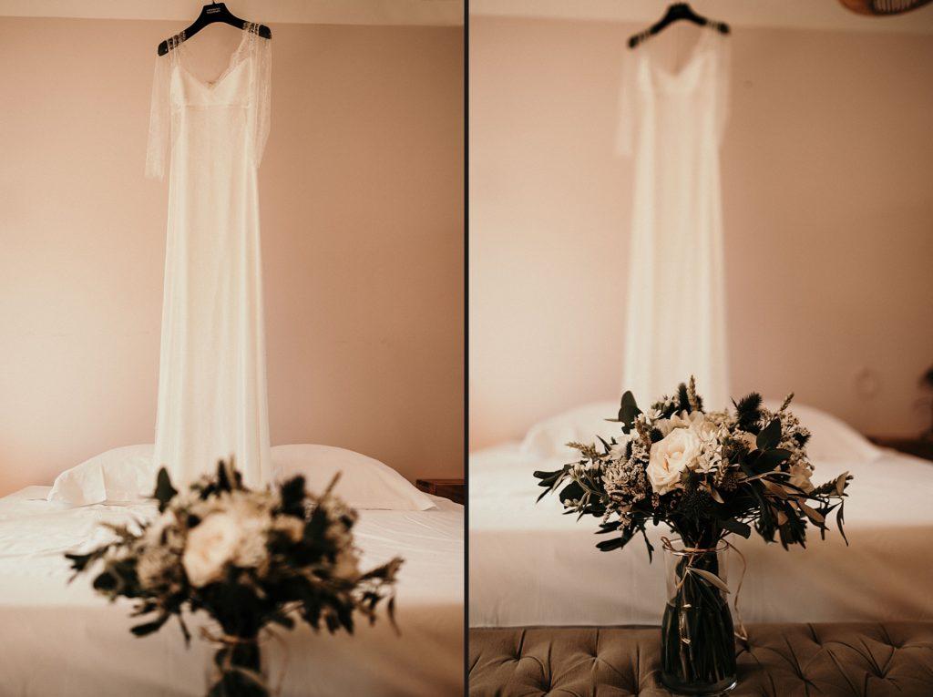 Cérémonie en extérieur robe Stephanie Wolff mariage