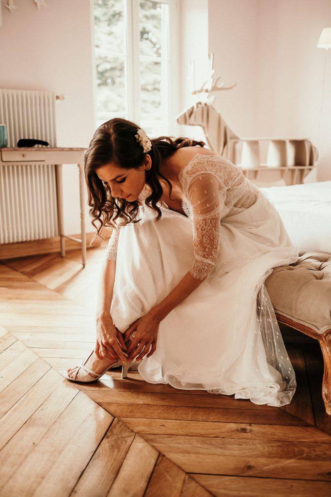Cérémonie en extérieur chaussures de mariée