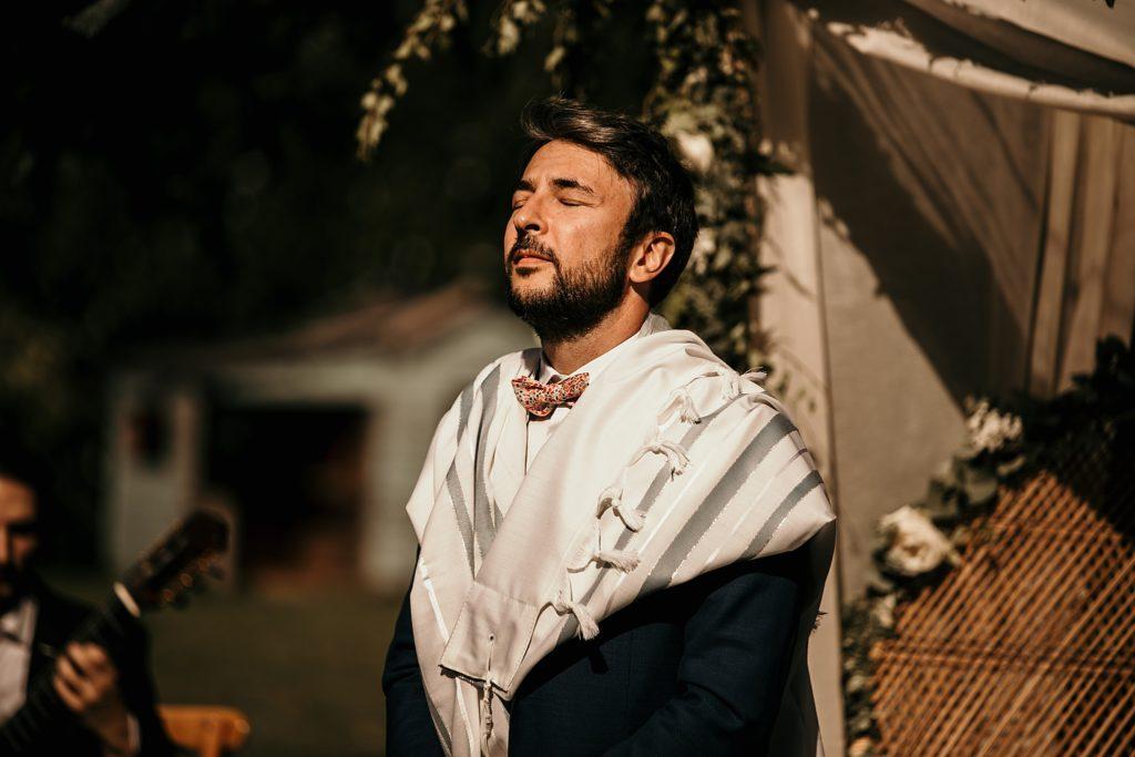 Cérémonie en extérieur photographe mariage juif paris