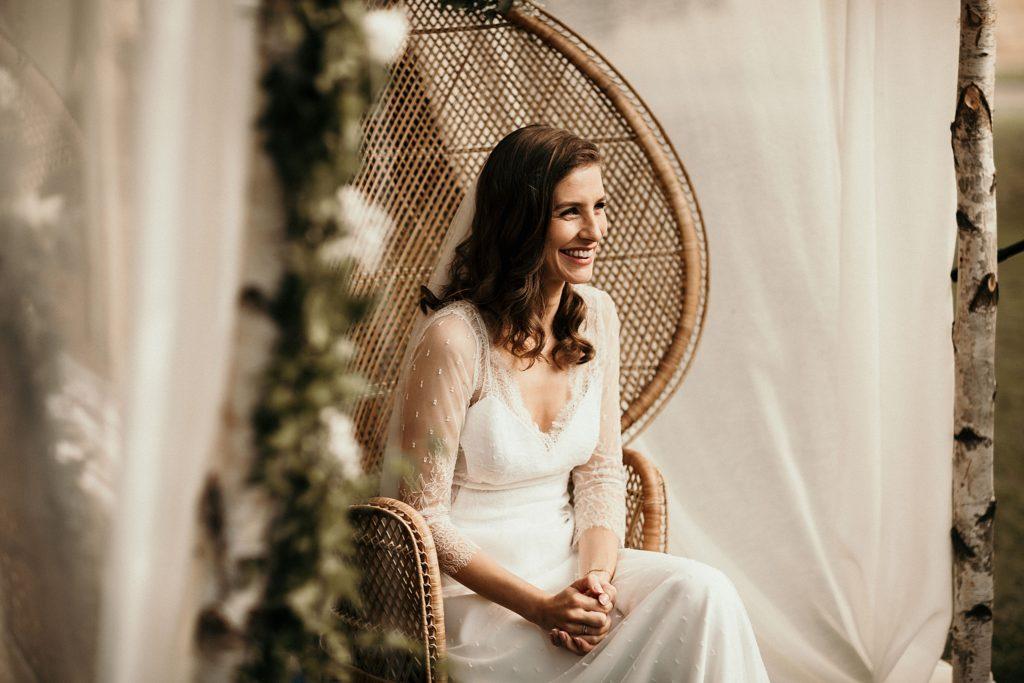 Cérémonie en extérieur robe Stephanie Wolff