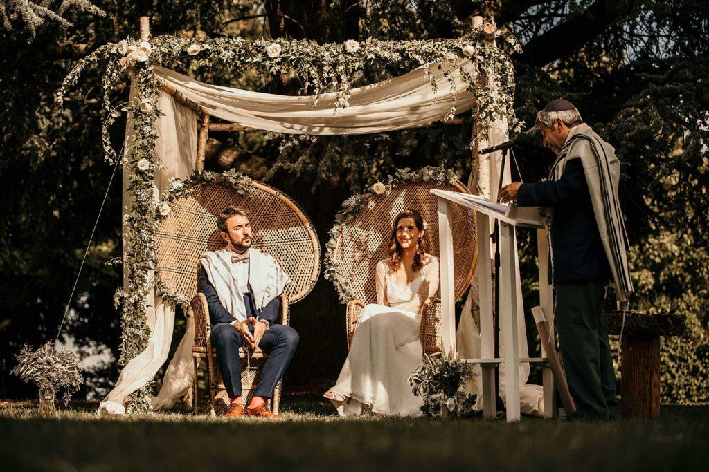 Cérémonie en extérieur houppa mariage juif