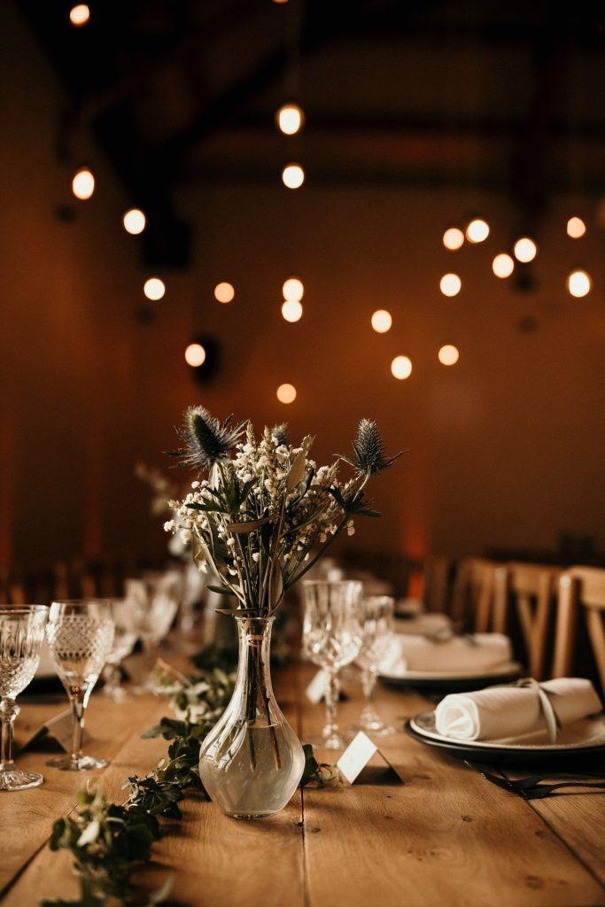 Cérémonie en extérieur déco de table mariage